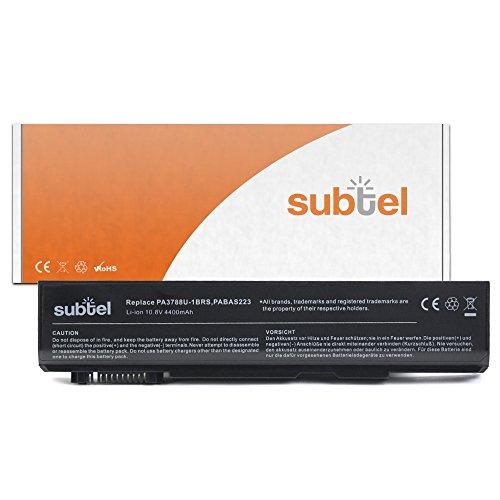 Batteria per Toshiba Satellite Pro S500 / Tecra A11 / M11 / S11 (4400mAh) PA3786U-1BRS,PABAS221,PA3787U-1BRS,PABAS222,PA3788U-1BRS / PABAS223