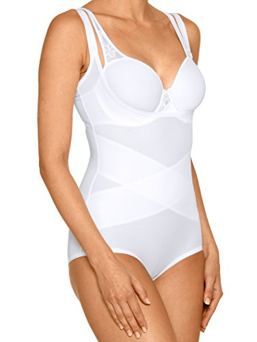 Damen Wohlfühl-Body mit Shape-Effekt Elastisch by KLiNGEL Weiß