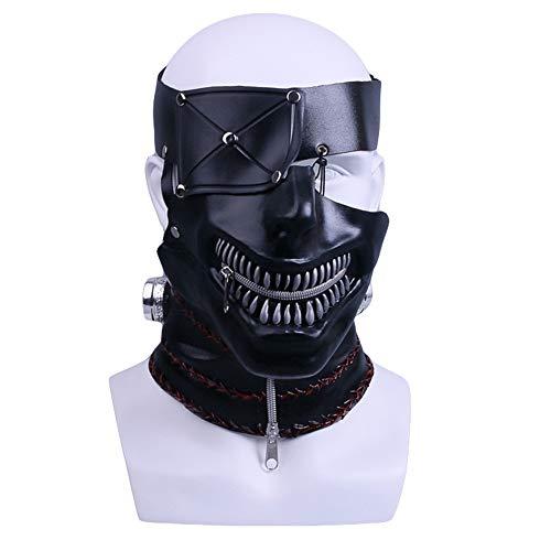 Hope Maskerade Maske Tokyo Ghoul Cyclops Masken PVC Schwarz One Eyed Cosplay Party Kostüm Halloween Maske Für 55-62 cm,Black-OneSize (Cyclops Kinder Kostüm)