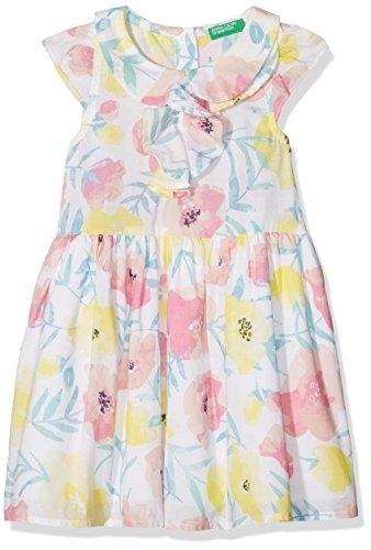 United Colors of Benetton Baby-Mädchen Kleid Dress, Mehrfarbig (Multicolor 911), 110 (Herstellergröße: XS)