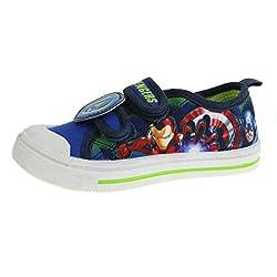 Marvel Avengers - Zapatillas de Lona para niños, Color Azul, Talla 26.5 EU