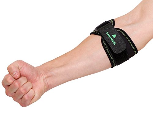 EasyHealth Tennis Elbow Brace with Compression Pad for Both Men...