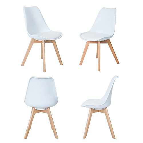 Naturelifestore Pack de 4 sillas de comedor /...