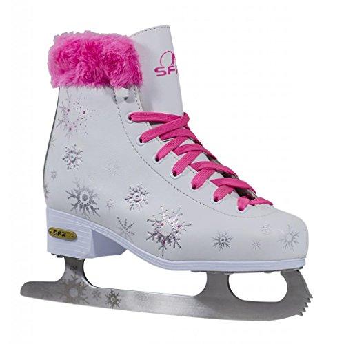 SFR Skates Snowflake Patines Sobre Hielo, Unisex niños, Rosa (Pink), 34 EU