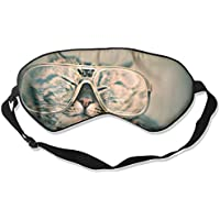 Eye Mask Eyeshade Cut Cat with Glasses Sleep Mask Blindfold Eyepatch Adjustable Head Strap preisvergleich bei billige-tabletten.eu