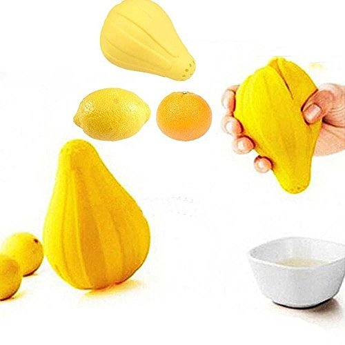 Doublehero Silikon Zitrusfrucht Juicer,Frucht Zitronen Presse Quetscher Frucht Juicer,Mini Portable Entsafter, Bequeme Handpresse Fruit Juicer Standmixer, Haushalts Mini-Mixer (Gelb) (Mixer Entsaften Rezepte)