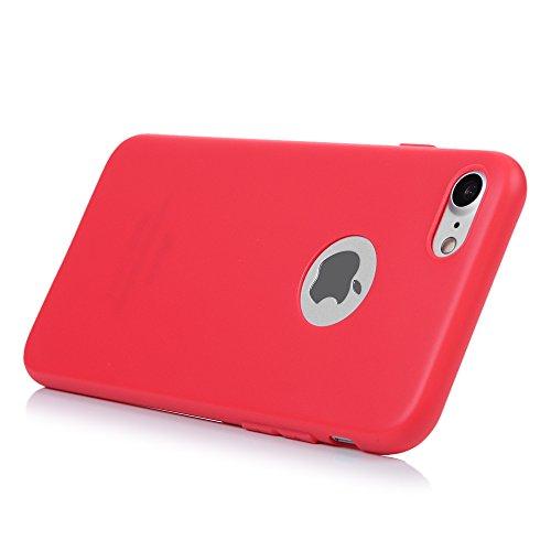 custodia iphone 7 rossa silicone