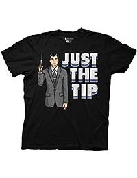 Archer Just The Tip Mens Black T-Shirt