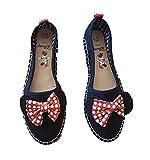 -:Disney Minnie Maus Damen/Damen/Mädchen Espadrille Ballerinas Schuhe Sommer Slipper Schwarz/Rot - Schwarz, 38
