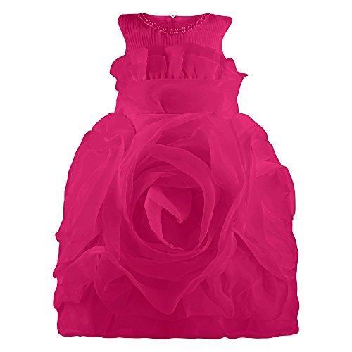 für Mädchen aus Rosen Chiffon, Rosa (Kinder Kostüme Billig)