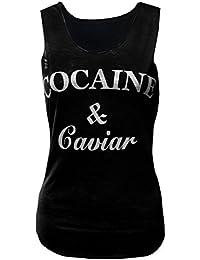 MyMixTrendz - Femmes cocaïne & Caviar »Slogan Vest T-shirt Top