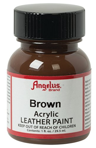 Angelus Acryl Leder Farbe 118ml / 4oz (Braun / Brown) (Acryl-leder-farbe Brown)