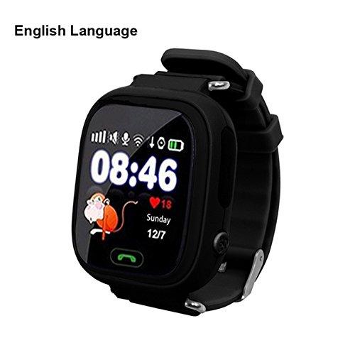 Ocamo Touchscreen Wifi Positionierung Kinder Smart Armbanduhr Locator für Kid Safe Antiverlust Schwarz