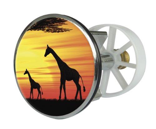 Waschbeckenstöpsel Design Kenyan Sunset | Abfluss-Stopfen aus Metall | Excenterstopfen | 38 – 40 mm