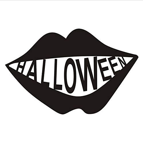 ustige Big Mouth Abnehmbare Halloween Vinyl Aufkleber Fenster Wandaufkleber Schablone Für Kinder Kinderzimmer Dekoration 45x29 cm ()
