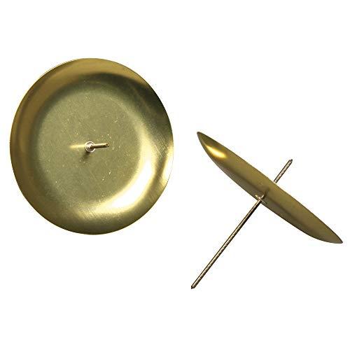 Rayher 2515206 Adventskranz-Kerzenhalter, 8 cm, SB-Btl. 4 Stück, gold