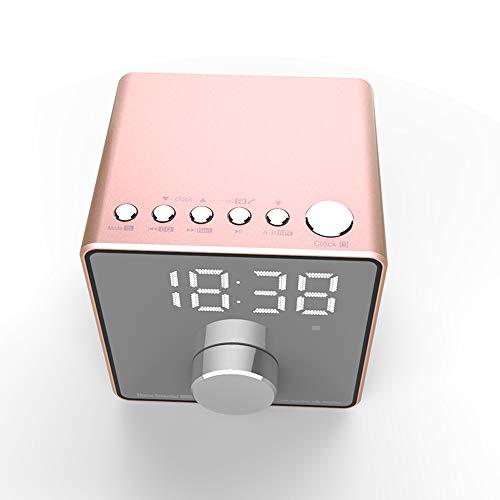 ZYWTZ Bluetooth Lautsprecher, 3600 mAh Batterie mit großer Kapazität, Unterstützung FM Radio Funktion, TF-Karte/U-Diskette Unterstützen, Kompatibel Mit Einer Vielzahl Von Bluetooth-Geräten,Pink