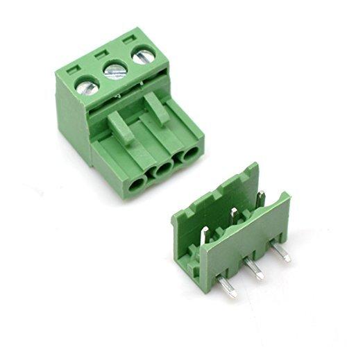 Willwin 5,08mm Pitch Rechts Winkel 4pol PCB steckbar Terminal Block Anschlüsse 03P x 20 Set