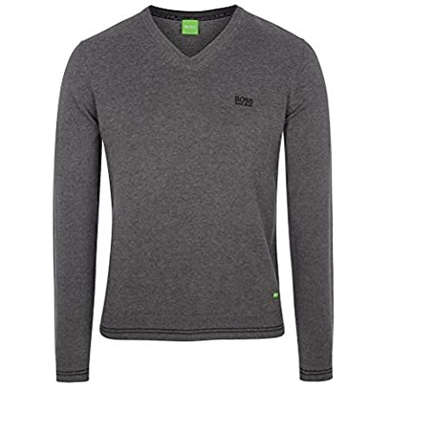 Hugo Boss Herren V-Neck Pullover - Verschiedene Farben (M, GRAU)