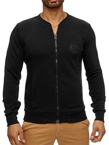 L.A.B 1928 Herren Sweatjacke Joggingjacke Jacke Hoodie Pullover Pulli Sweatshirt Schwarz