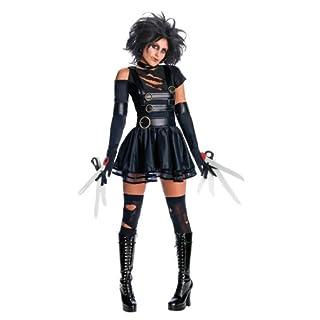 Rubie's offizielles Miss Edward mit den Scherenhänden Kostüm + Perücke für Damen, ausgefallenes Kostüm, Halloween-Kostüm
