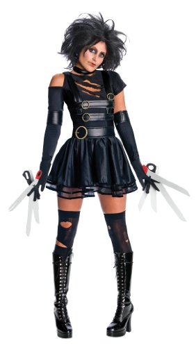 Miss Edward Scissorhands + Wig Fancy Dress Costume. Sizes 6 to 16