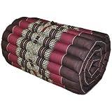 Matelas Thai 1 p., tapis, appoint, détente, repos, gym, méditation, yoga, plage, piscine, fabriqué en Thaïlande, marron (81513)