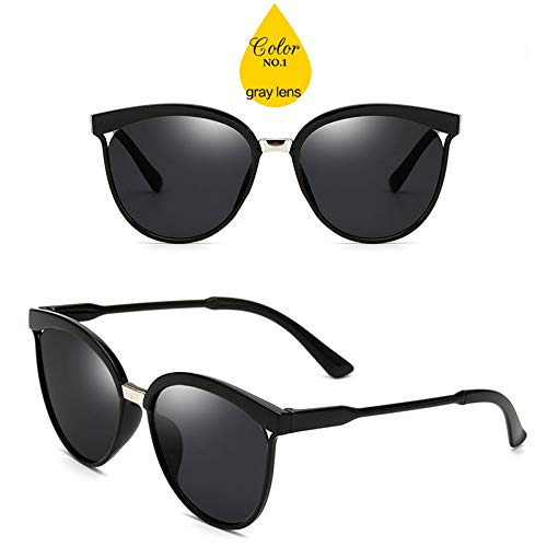 MOJINGYAN Sonnenbrillen,Bonbons Cat Eye Sonnenbrille Frauen Kunststoff Sonnenbrille Classic Retro Outdoor Graue Linse