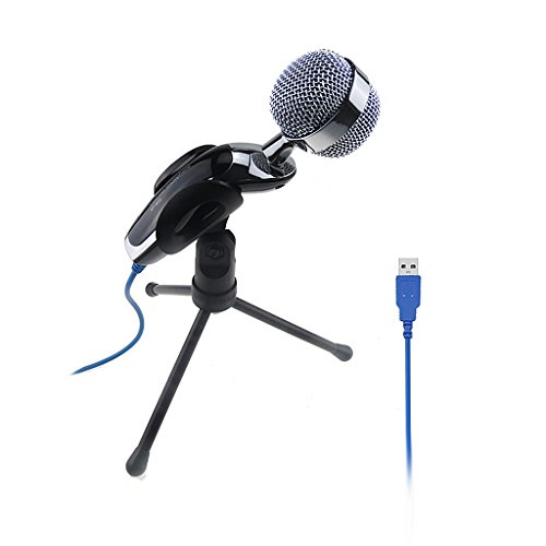 Magideal Computer USB Studio Condenser Microphone Cardioid PC Recording Mic w/ Stand  available at amazon for Rs.1400