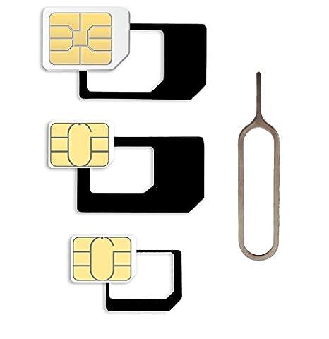 Nano Sim und Micro Sim Karten Adapter Set für Smartphone,