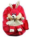 #7: Richy Toys Rabbit Cute Teddy Soft Toy School Bag for kids, Travelling Bag, Carry Bag, Picnic Bag, Teddy Bag (Pink)