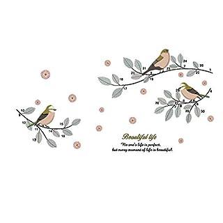 AWAKINK Cartoon Birds Flying auf Zweige Pastoral Stil Wand Aufkleber Wand Aufkleber Vinyl Abnehmbare Kunst Wand Aufkleber Schlafzimmer Wohnzimmer Kinderzimmer Kinder Schlafzimmer