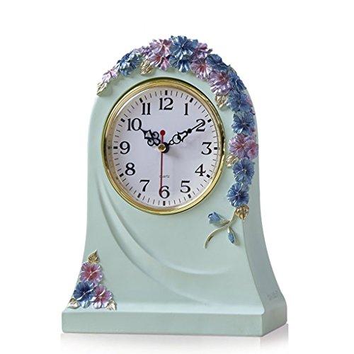 Holz-loft-betten (MOMO Tischuhr Europäische Uhr Kreative Uhr Wohnzimmer Uhr Schlafzimmer Uhr Ruhig Uhr Home Bett Dekoration Dekoration,BBB)