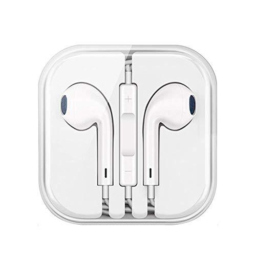 Shm Écouteurs Intra-Auriculaires, Écouteurs avec Micro et Télécommande Oreillettes Filaires in Ear Casque pour iPhone 6,6s,6s Plus