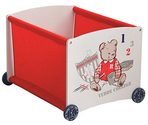 roba Stapelbox rot aus Puppenmöbel Serie 'Teddy College'; Stapelbox Stoffeinhang in rot,...