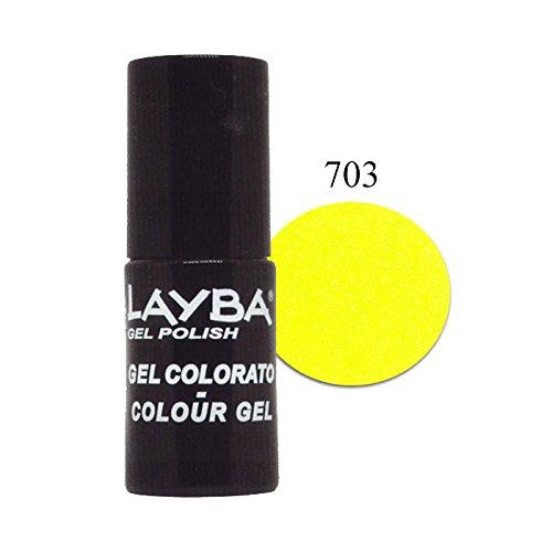 Layla layba smalto gel polish yellow fluo 703