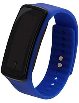 Fashion Sports LED Elektronische Armbanduhr Armbanduhr Liebhaber Armbanduhr Unisex Blau