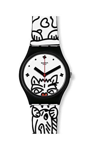 Swatch Orologio Analogico Quarzo Svizzero Donna con Cinturino in Silicone GB322