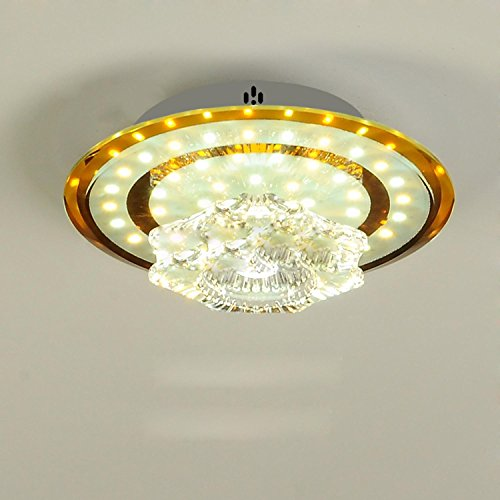 GRFH LED Glas Deckenleuchte Korridor Lampen Decken Kristall Lampe Hall Lampe Durchmesser 18Cm Warm Licht 110V-240V 20W