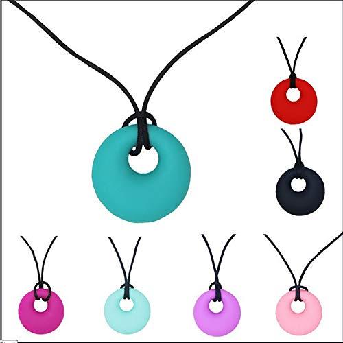 SUN RDPP Chewy Tube Durable Sensual Chewable Halskette für Kinder, Jungen Mädchen für Autismus, Oral Sports Girls, 2St