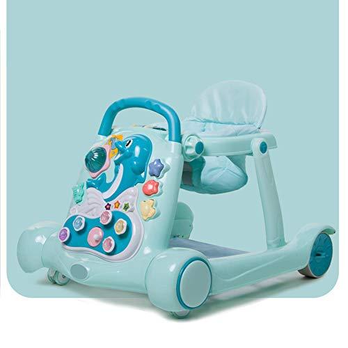 Andador De Bebé Interactivo, Primeros Pasos Bebé Andadores, Regulador Plegable Y Ajustable Plato Desmontable...