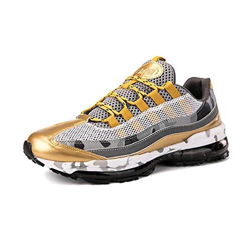 WYX Herrenschuhe Luftkissen Shock Laufschuhe Kissen Mens Wintersportschuhe Casual Shoes,A,45