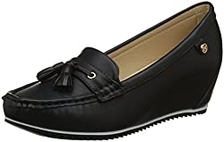 Carlton London Womens Sameria Black Loafers - 6 UK/India (39 EU)(CLL-4245)