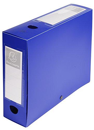 Exacompta 59832E Boite de classement a pression dos 80mm polypropylene 7/10e opaque