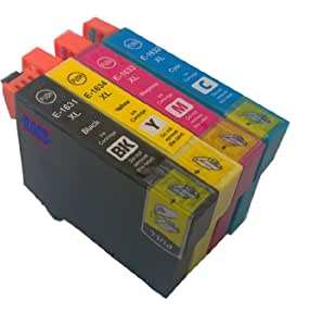 T 1631-1634 XL - 1 set of 4 Multipack Epson Compatible Ink Cartridges for Epson WorkForce WF-2010W - ALSO COMPATIBLE WITH Epson WorkForce WF-2510WF, Epson Workforce WF-2520NF, Epson Workforce WF-2530WF, Epson Workforce WF-2540WF Printers - Latest Version Double Capacity Inks - T1631, T1632, T1633, T1634, T1636 (Contains 4x : T 1631, T 1632 T 1633, T 1634) - Cyan / Magenta / Yellow / Black - Multipack ***By TriINKS***
