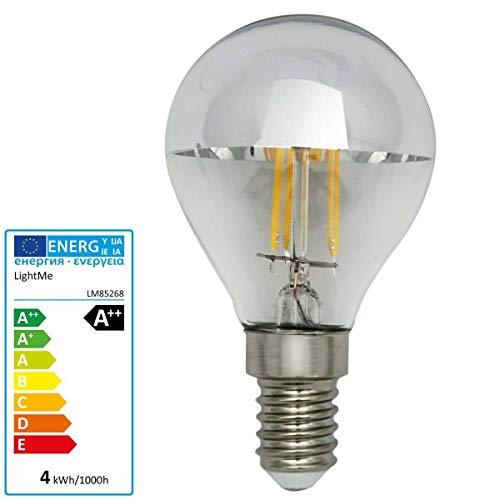 LightMe LED Lampe Kopfspiegel silber / klar 4 Watt E14 dimmbar warmweiß 827