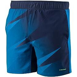 Pantalones cortos HEAD Vision Graphic para hombres, hombre, color azul marino, tamaño S