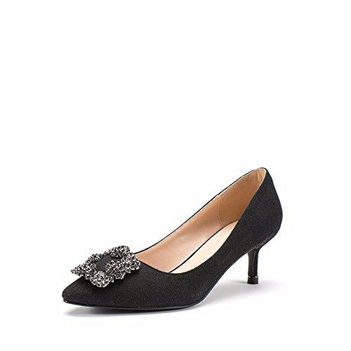 HXVU56546 L'Automne De Nouvelles Chaussures, Chaussures Bouche Peu Profondes Avec Des Talons Hauts, Diamond A Fait Fashion Chaussures Femmes