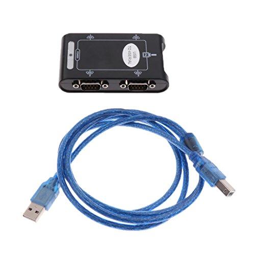 Homyl USB zu 9 Pin RS232 4 Port Seriell Konverter Adapterkabel Unterstützung: Windows 95/98 / 98SE / Me / 2000 / XP / Vista / Win7 / Linux OS / DOS