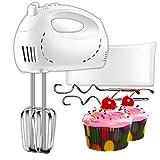 CUSIBOX Mixer Handrührer Elektrische Hand Schneebesen in 5 Geschwindigkeiten und Turbo - Kuchen Mixer Hand Food Mixer mit Aufbewahrungsbox